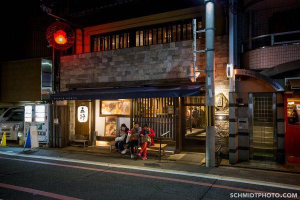 Kyoto at night image downtown burnt ramen