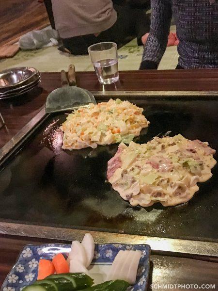 Tokyo potato pancake restaurant eat with tom - 22