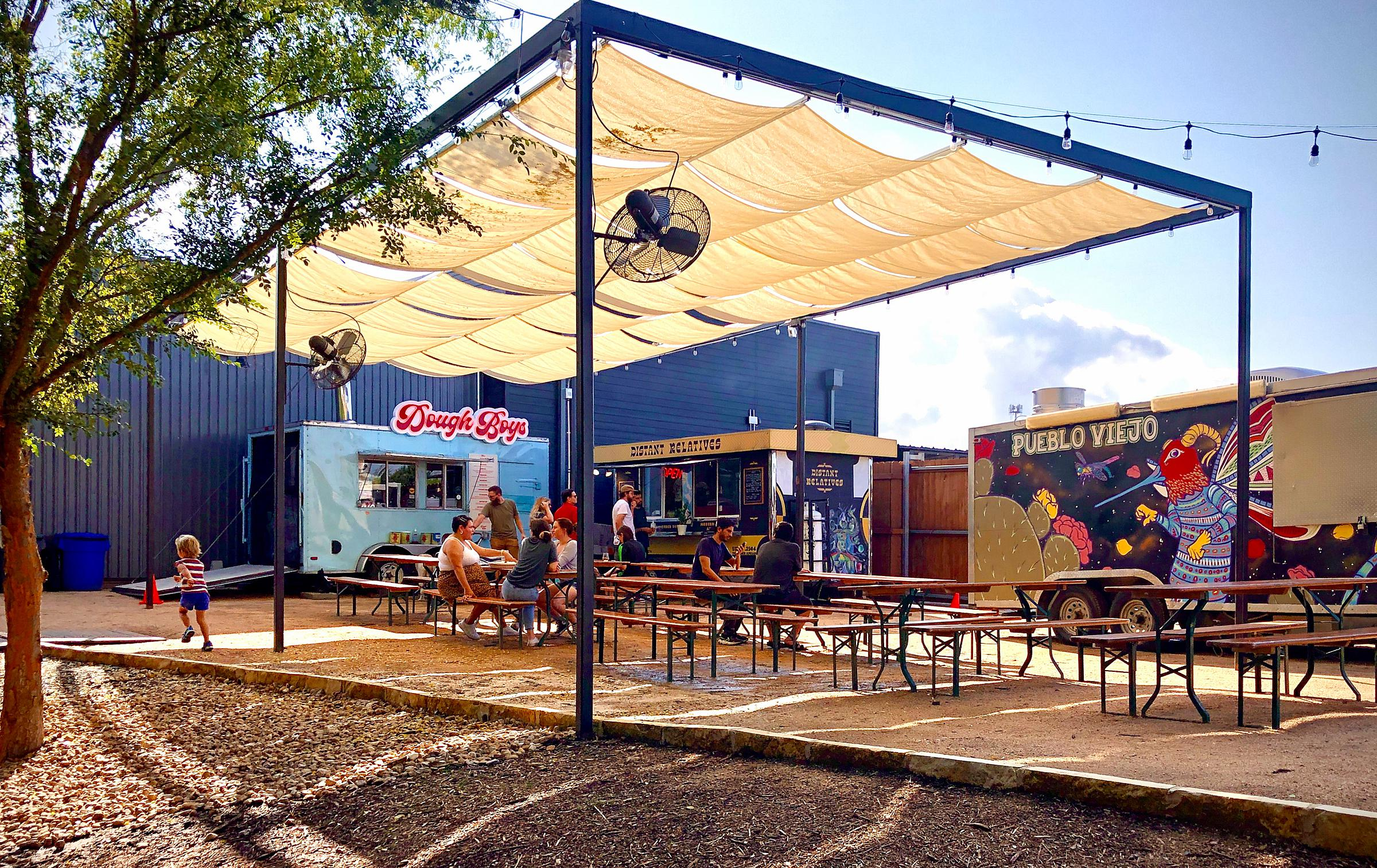 Austin Patio Life Food Culture Meanwhile Brewing